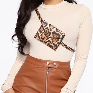 BRAND NEW Leopard belt purse